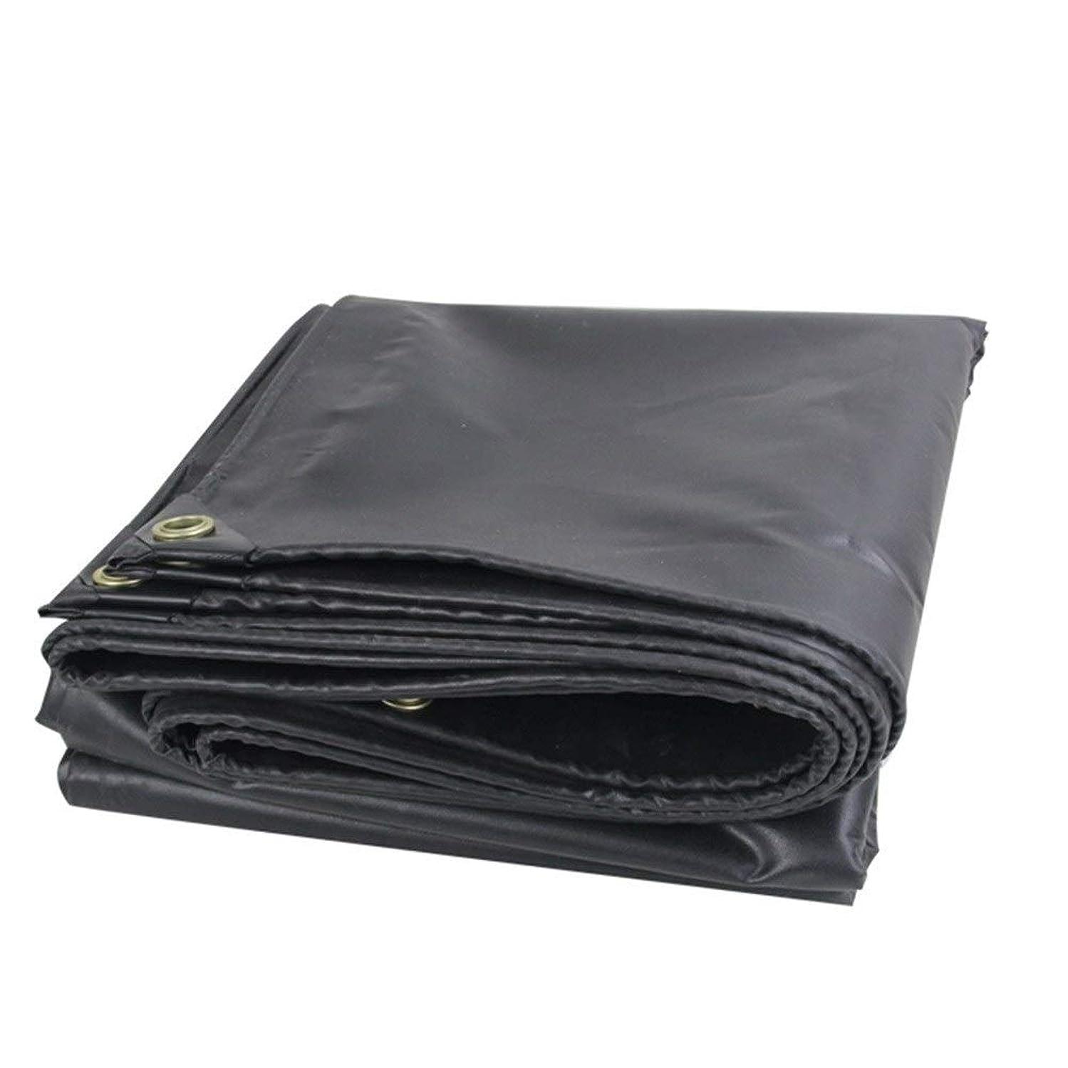 火可決ハブブFQJYNLY ターポリンタープ防雨布シェーディングライトファーム屋外の金属製のボタンホール,PVC、 11サイズ (Color : Black, Size : 4.8X6.8M)