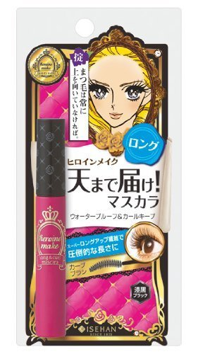 Isehan Kiss Me heroine make | Mascara | Long & Curl Mascara S 01 Jet Black 6g by Isehan BEAUTY (English Manual)