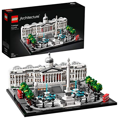 LEGO 21045 Architecture Trafalgar Square Building Set with London Landmark National Gallery Collectible Model