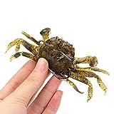 RAYNAG 2 Pack Simulated Crab Baits Artificial Fishing Lures Tackle Baits Sharp Hook Lures Soft Plastic Fishing Crankbaits, Random Color