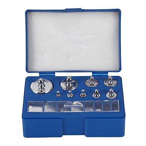 PUSOKEI Juego de Pesas de calibración de 17 Piezas, Juego de Pesas de calibración de precisión de 10 mg-100g Gramos con Pinzas para báscula de joyería de Prueba