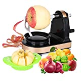Apple Peeler Slicer Corer Vegetable and Fruit Peelers Slicer Automatic Hand Sharp Stainless Steel Blades Fruit Opener Peels Slicer Corer and Cuts in Seconds Peelers