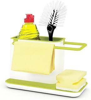 kucoolou Sponge Kitchen Box Draining Rack Dish Self Draining Sink Storage Rack Kitchen Organizer Stands Utensils Towel Rac...