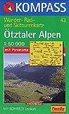 Ötztaler Alpen, Ötztal, Pitztal: Wander-, Rad- und Skitourenkarte. Mit Panorama. GPS-genau. 1:50.000