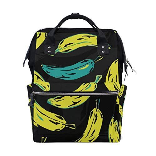 Coloré Banana Ooxx Sac à langer humoristique Grand sac à langer de voyage pour allaitement Sac à dos maman