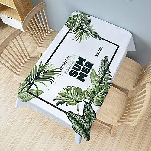 XXDD Mantel de Hojas Suaves Cubierta de Mesa de Planta Comedor manteles de café decoración Muebles de Banquete Cubierta a Prueba de Polvo A8 140x180cm
