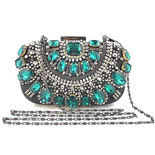 Clutch Bags For Women Crystal Evening Wallet Metal Bracelet Silver Beaded Bridal Wedding Clutch