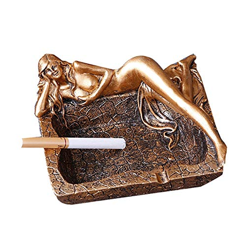 KONVINIT Retro Sexy Long Legs Smokeless Ashtrays Beauty Cigarette Ashtray for Indoor or Outdoor Use, Desktop Smoking Ash Tray for Home Office Decoration