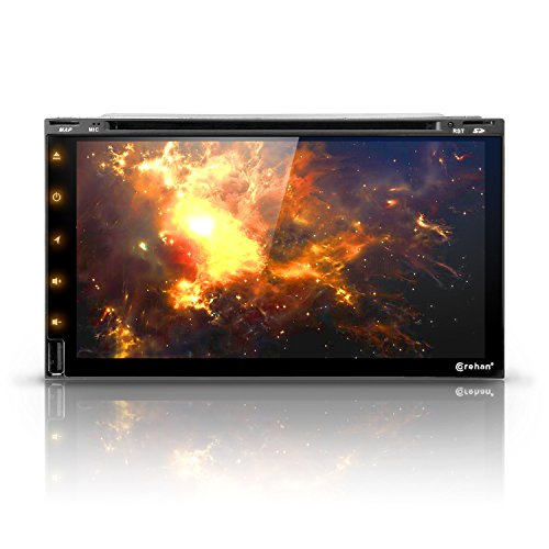 Android 7 Car Stereo CD DVD Player - Corehan 6.95' inch Double Din in Dash Car Radio Touch Screen...