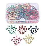 60 stücke Hand Geformt Büroklammer Metall Nette Dokument 5 Farben Kennzeichnung Clips für Schule Büro Lesezeichen Organisieren Schreibwaren Geschenke