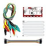 CLIPS DE COMOTIGADOR CON CABLE USB MK DELUXE KIT DOBLE PLAZONES DE PRUEBA DE PLAZONES DE PUBLICACIÓN Cable de adaptador de cables Conector de cocodrilo de alambre Conector, compatible con Arduino