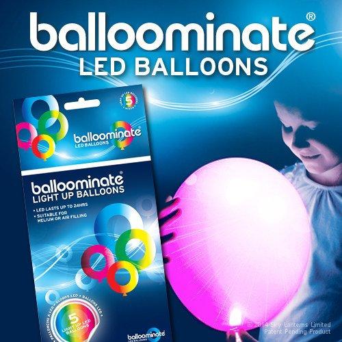Pink - 5 pièces . Pink LED Ballons Balloominate . Parfait pour les fêtes et célébrations.