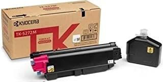 Kyocera 1T02TVBUS0 Model TK-5272M Magenta Toner Kit For use with Kyocera ECOSYS M6235cidn, M6630cidn, M6635cidn and P6230cdn A4 Multifunctional Printers; Up to 6000 Pages Yield at 5% Coverage