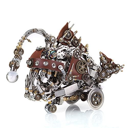 Likecom Puzzle 3D de metal para montar uno mismo, modelo de montaje de 1064 piezas, estilo steampunk, modelo creativo de pez linterna, juguete para adultos y niños