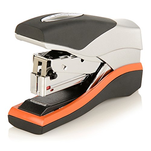 Swingline Stapler, Half Strip Desktop Stapler, 40 Sheet Capacity, Low Force, Compact Size, Office, Desk, Optima 40, Orange/Silver/Black, 1 Count (87842)