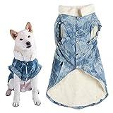 Ropa para Mascotas - Otoño Invierno Algodón Western Boy Azul Espesar Suave y cómoda Ropa para Mascotas Abrigo cálido Ropa para Perros (9 tamaños Opcionales)(4XL)