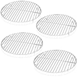 TeamFar Round Cooling Rack Set of 4, 9 Inch Round Wire Rack Stainless Steel Baking Steaming Roasting Rack Set, Healthy & Sturdy, Mirror Finish & Rust Resistant, Oven & Dishwasher Safe