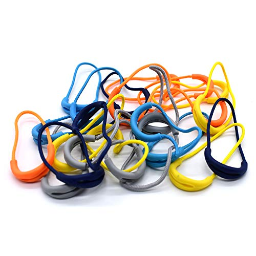 25Pcs Zipper Pulls Cord Replacement for Backpacks, Jackets, Traveling Cases, Luggage, Purses, Handbags, Kids (5 Colors Mixed)