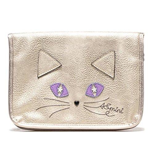 ANNA SUI mini アナスイ 猫 ねこモチーフ 母子手帳ケース マルチケース (ゴールド)