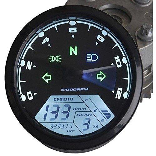 iztoss universal LED de la motocicleta tacómetro + Velocímetro del odómetro Gauge, multifunction