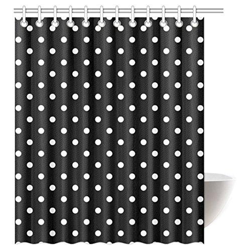 BBFhome Hem Gewichte Vorhang Duschvorhang 90x180 CM Tupfen wasserdicht Polyester Haken