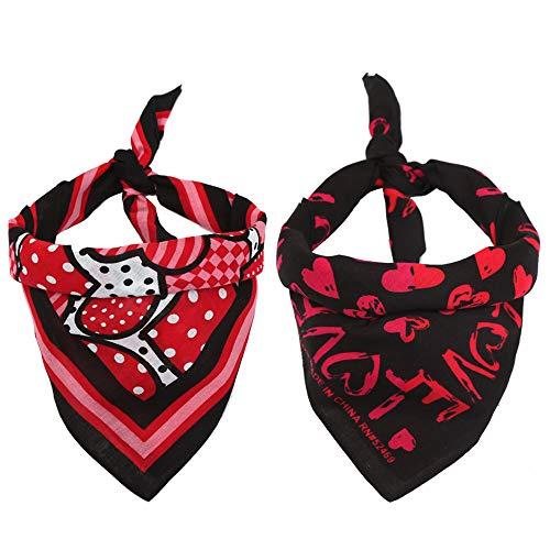 Egurs Valentijnsdag huisdier katoen bandana hond liefde patroon slabbetje driehoek sjaalsjaals voor hond kat 20 '' * 20 ''