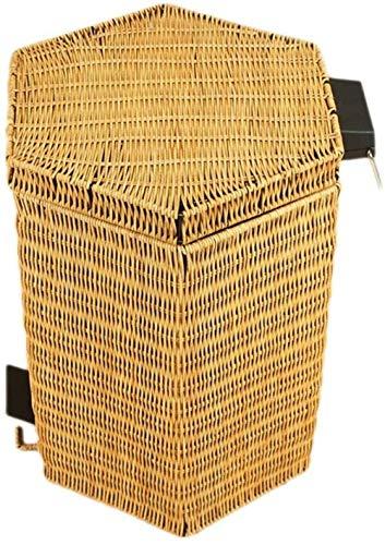 Vuilnisbakken trash gedraaid thuis trash 3L / 5L / 8L / 12L / 20L papiermanden (Kleur: Bruin Maat: 3L) Maat: 12L Kleur: Brown (Color : Yellow)
