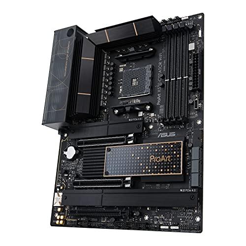 ASUS ProArt X570-CREATOR WiFi - Placa Base para Crear contenidos AMD X570 Ryzen AM4 ATX PCIe 4.0, refrigeración PCH, Thunderbolt 4 Tipo C, Ethernet 10 GB y 2,5 GB, Wi-Fi 6E, M.2, USB 3.2 Gen. 2