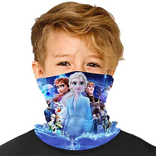Washable Kids F-rozen Two Neck Gaiter Mask Adjustable Reusable Bandana Face Shield Scarf Masks