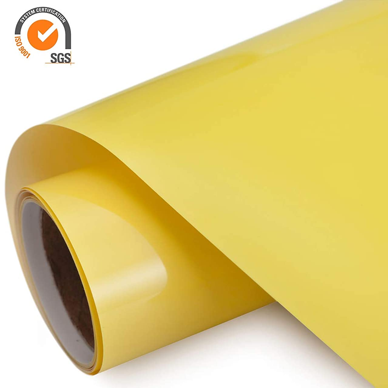 Heat Transfer Vinyl HTV Rolls for T Shirts 12in.x5ft. – Easy Weed Iron on HTV Vinyl Compatible with Silhouette Cameo & Cricut by TransWonder (Lime Yellow)