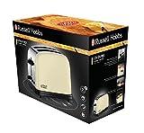 Russell Hobbs 23334-56 Toaster Colours Plus+ Classic Cream, Schnell-Toast-Technologie, Brötchenaufsatz, 1670 Watt, Creme - 2
