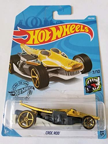 Hot Wheels 2019 Street Beasts Croc Rod (Crocodile Car) 170/250, Gold