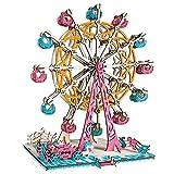 maoying02 Ferris Wheel Puzzle De Madera Modelo 3D Juguete DIY Ensamblado Puzzle Padre-niño Juguete Decoración Regalo Regalo