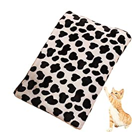Shuda Simple Pattern Pet Blanket Warm Washable Soft Fabric Bed Blankets for Protection Puppy Cat(75 X 100cm)