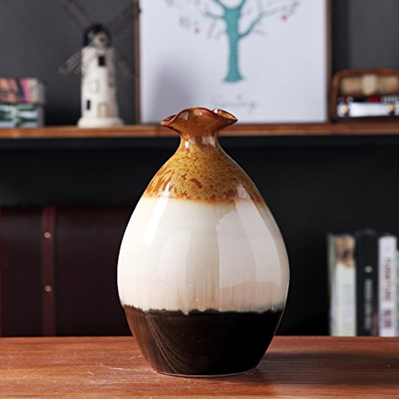 XOYOYO Jingdezhen Creativo Europeo Jarrón pequeño Home Furnishing Ornamento Suave Decoración Cerámica Retro Habitación