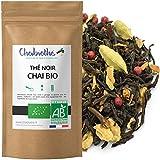 Chabiothé - Thé noir Chaï Masala BIO 200g - aux épices indiens - mélangé et conditionné en France - sachet biodégradable