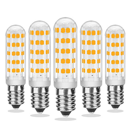 E14 LED Dimmbar, Warmweiß 2700K, 7W E14 LED Glühbirne, 70W Halogenersatz, Mini E14 LED-Kapselbirne für Kronleuchter, AC 220-230V, 520LM, CRI> 85, kein Flimmern, 5er Pack, CHEERBEE