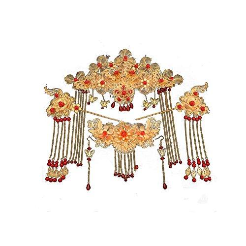 Hochzeitskleid chinesischen Stil Retro Zubehör Haarschmuck Set