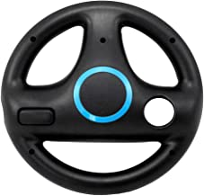 $20 » 3 Color 4 Suction Cup ABS Steering Wheel for Wii Kart Racing Games Remote Controller Console with Automatic Rotation Wii G...