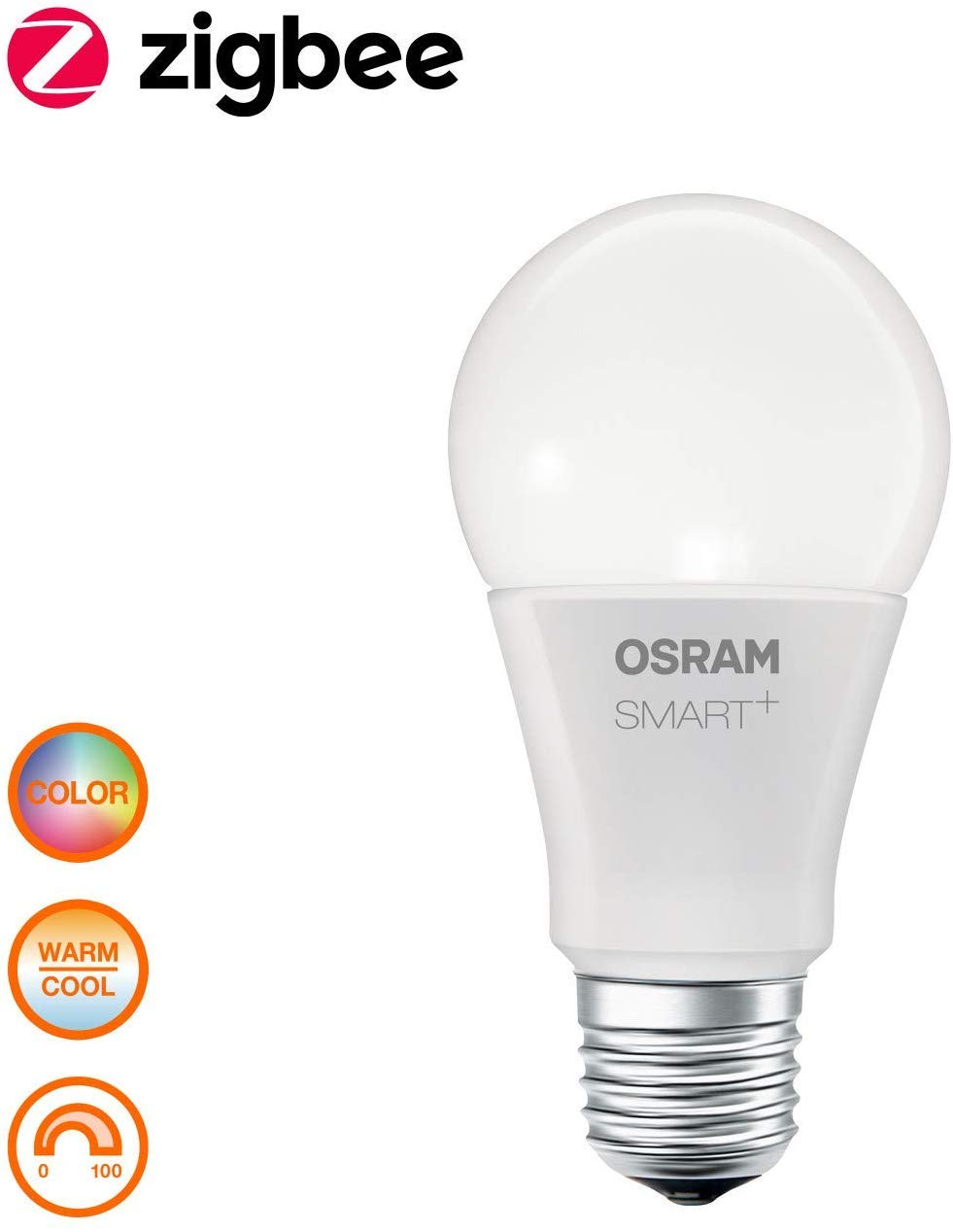 Osram Smart Bombilla Inteligente y Estándar 60 Casquillo con Cambio de Color E27, 10 W, Multicolor, Lote de 1: Amazon.es: Iluminación