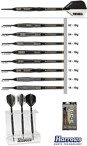 Harrows Unisex-Adult Glacier Soft Darts, schwarz, Nr.: 02-18g