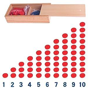 Lunji Montessori Mathematisches Puzzle Zahlen aus Holz