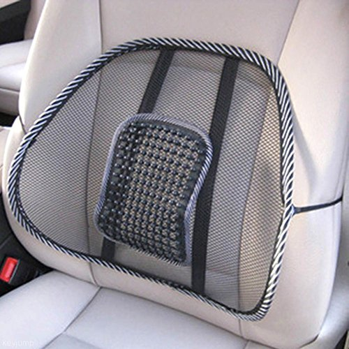 Sedeta® Massage kussen Mesh rug hout ondersteuning Brace bureaustoel auto stoel Relax Pad