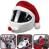 Blu7ive Cubierta de casco de motocicleta, casco de Navidad adecuado para cascos de motocicleta, diversión y regalos