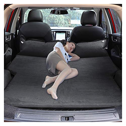 Jinan Almohadilla de dormir de ante para maletero de coche, para todo terreno, todoterreno, camioneta, colchón de aire de viaje, cama de aire (nombre del color: S negro)