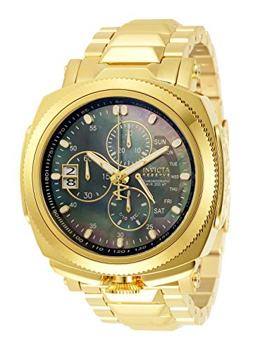 Invicta Men's Reserve Russian Diver Quartz Watch with Stainless Steel Strap, Gold, 26 (Model: 30839)