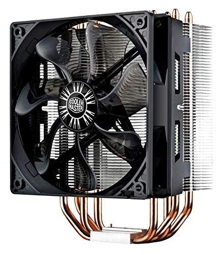 Cooler Master Hyper 212 Evo CPU Cooler w/ 4 Continuous Direct Contact Heatpipes, 120mm PWM Fan, Aluminum Fins, Intel LGA1151, AMD AM4/Ryzen