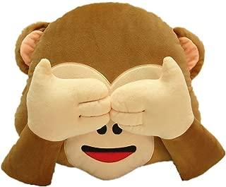 Rainbow Fox Emoji Monkey Pillow Throw Pillow Deco Cushion - No Look