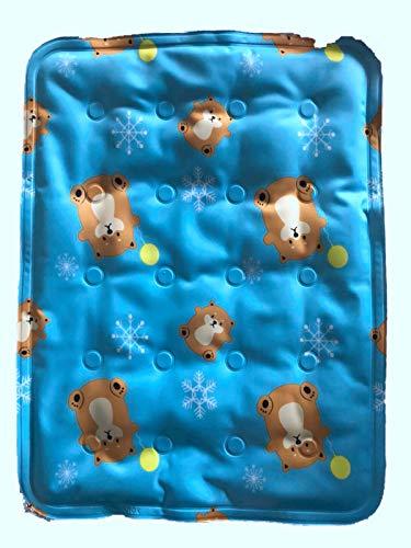 Catforest Dog Gel Cooling Mat Teddy Pet Ice Pad für kleine Große Hund Sommer Keep Cool Sitzkissen Mat Multifunktions Katze Isomatte Blue Bear S 30X40cm