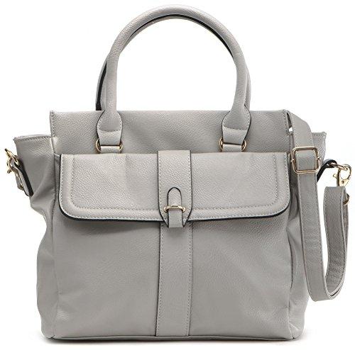 Masquenada, Damen Handtaschen, Shopper, Tote-Bags, Henkeltaschen, 27x26,5x12cm (B x H x T), Farbe:Grau (Hellgrau)